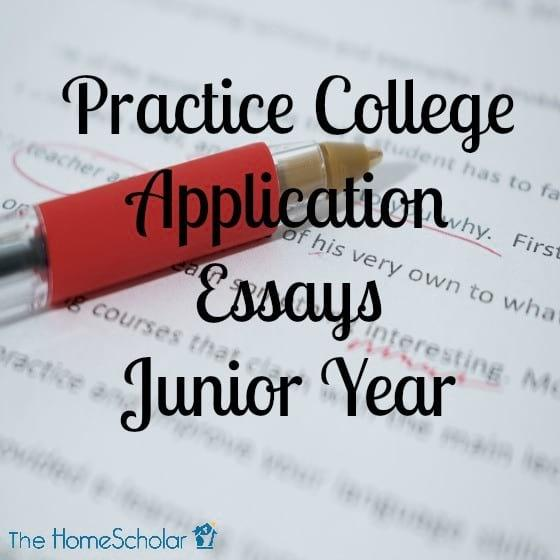Practice College Application Essays Junior Year