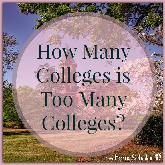 How Many Colleges is Too Many Colleges