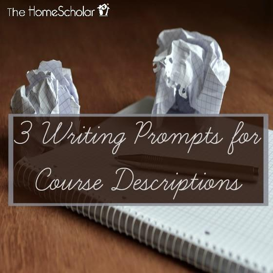 3 Writing Prompts for Course Descriptions