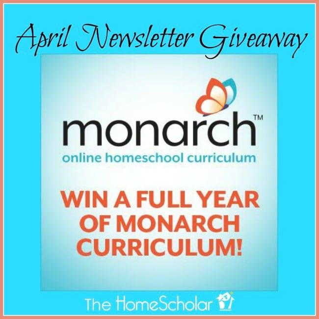 Enter to Win! April Newsletter Giveaway