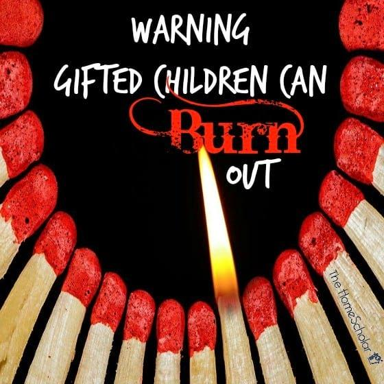Warning Gifted Children Can Burn Out