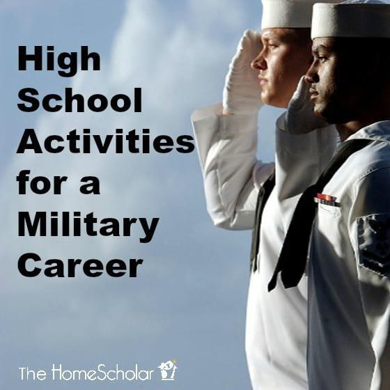 High School Activities for a Military Career