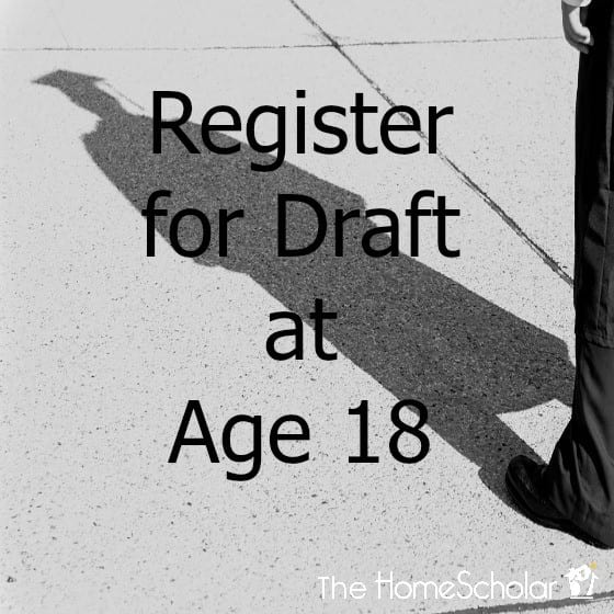 Register for Draft at Age 18
