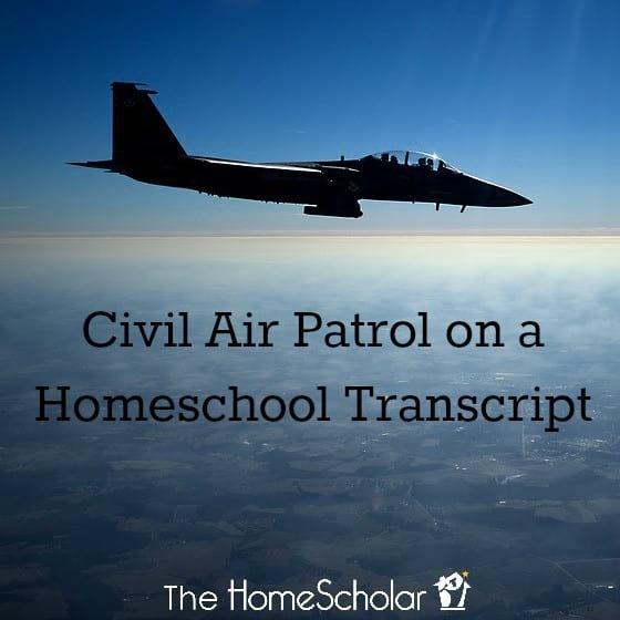 Civil Air Patrol on a Homeschool Transcript