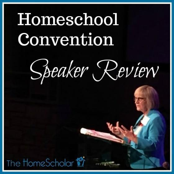 Homeschool Convention Speaker Review
