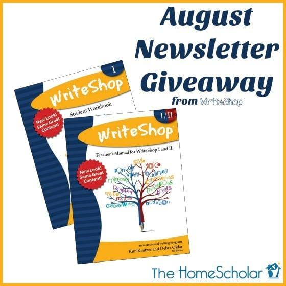 August Newsletter Giveaway - Enter NOW