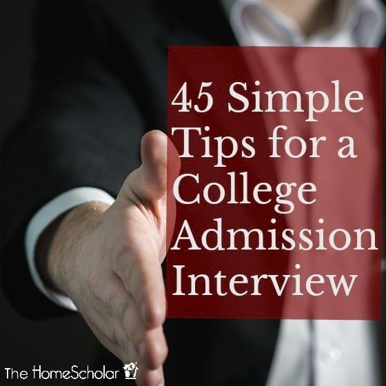 45 Simple Tips for a College Admission Interview