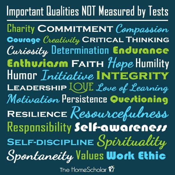 Qualities NOT Measured by Tests [Free Printable Poster]