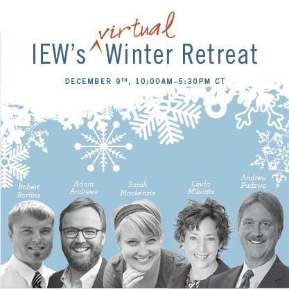 Free Winter Retreat December 9 PLUS Giveaways from IEW