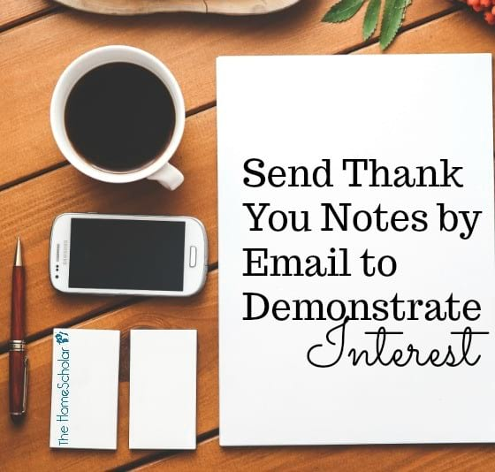 Send Thank You Notes by Email to Demonstrate Interest