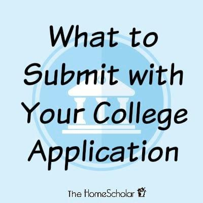 What to Submit with Your College Application