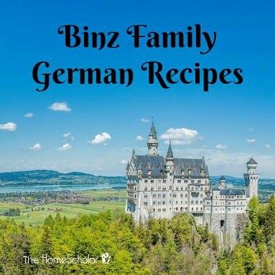 Binz Family German Recipes