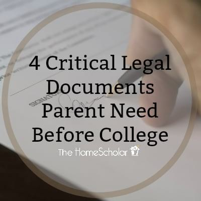 4 Critical Legal Documents Parent Need Before College