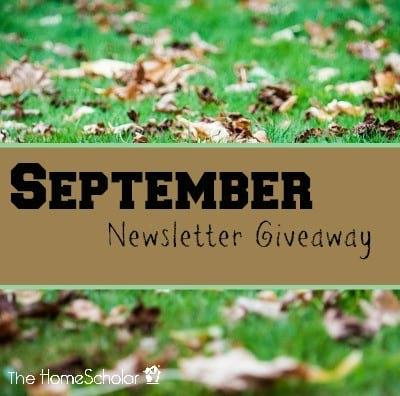 September Newsletter Giveaway