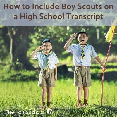 How to Include Boy Scouts on a High School Transcript