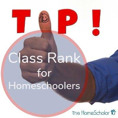 Class Rank for Homeschoolers
