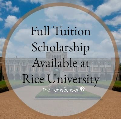 Full Tuition Scholarship Available at Rice University
