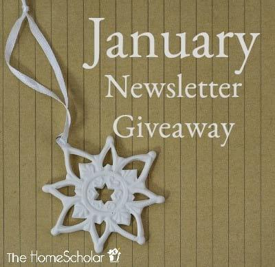 January Newsletter Giveaway - Enter to Win!