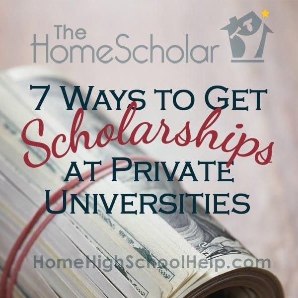 scholarships   private universities