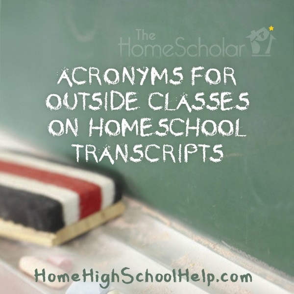 homeschool transcripts with acronyms