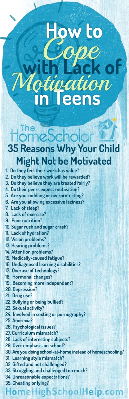 Reasons it might be hard to motivate your teenager