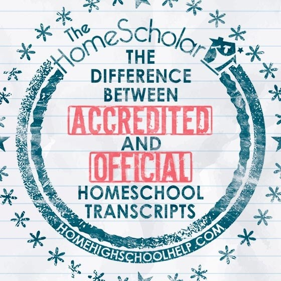 what is the difference between accredited and official homeschool transcript