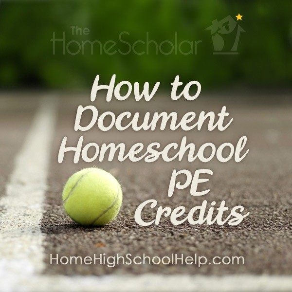 How to document homeschool PE credits