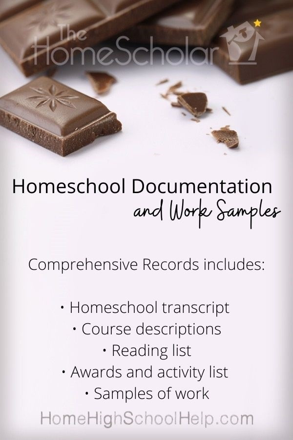 homeschool documentation and work samples