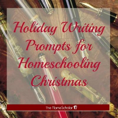 Holiday Writing Prompts for Homeschooling Christmas