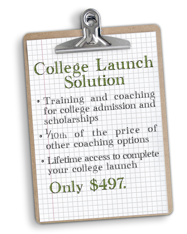 The College Launch Solution will teach you how to be the best college admission counselor for your child